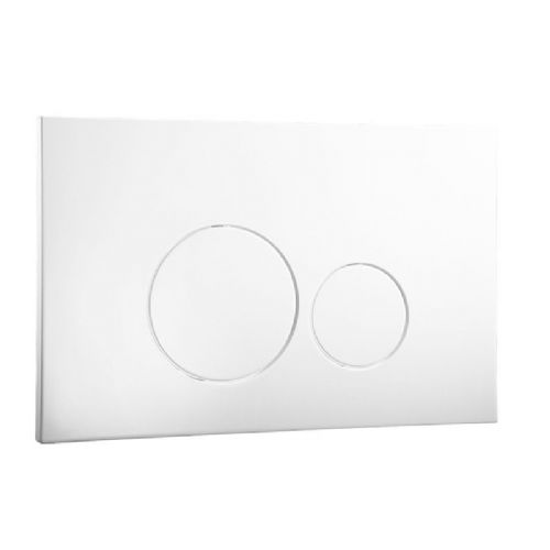 Abacus Easi-Plan Iso 2 Dual Flush Plate - White